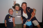 Lori Gillaspie and sons Jack & Scott at the Exploritorium - July 2007